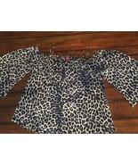 NWOT VINCE CAMUTO Cold Shoulder Leopard Print Top, Size medium - $19.79