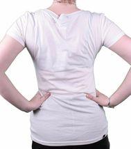 Bench UK Damen Hartford Creme Grafik Mode T-Shirt BLGA2368 Nwt image 3