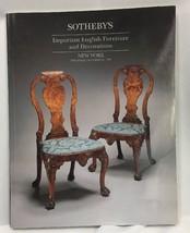 Sothebys NY Important English Furniture Decorations October 12 1995 Catalog - $24.18
