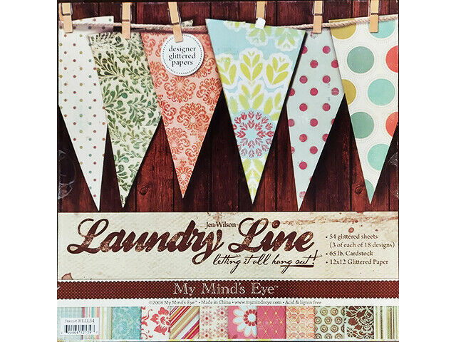 My Mind's Eyes Laundry Line, Letting It All Hang Out 12x12 Cardstock Paper Pad
