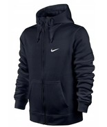 Nike Men's Club Swoosh Full-Zip Hoodie Jacket Black S 823531-010 - $59.99