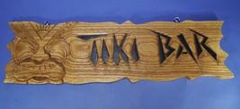 """Tiki Bar 25"""" Wood Sign NEW Carved Handmade Hawaiian Man Cave Hanging Wal... - $39.59"""