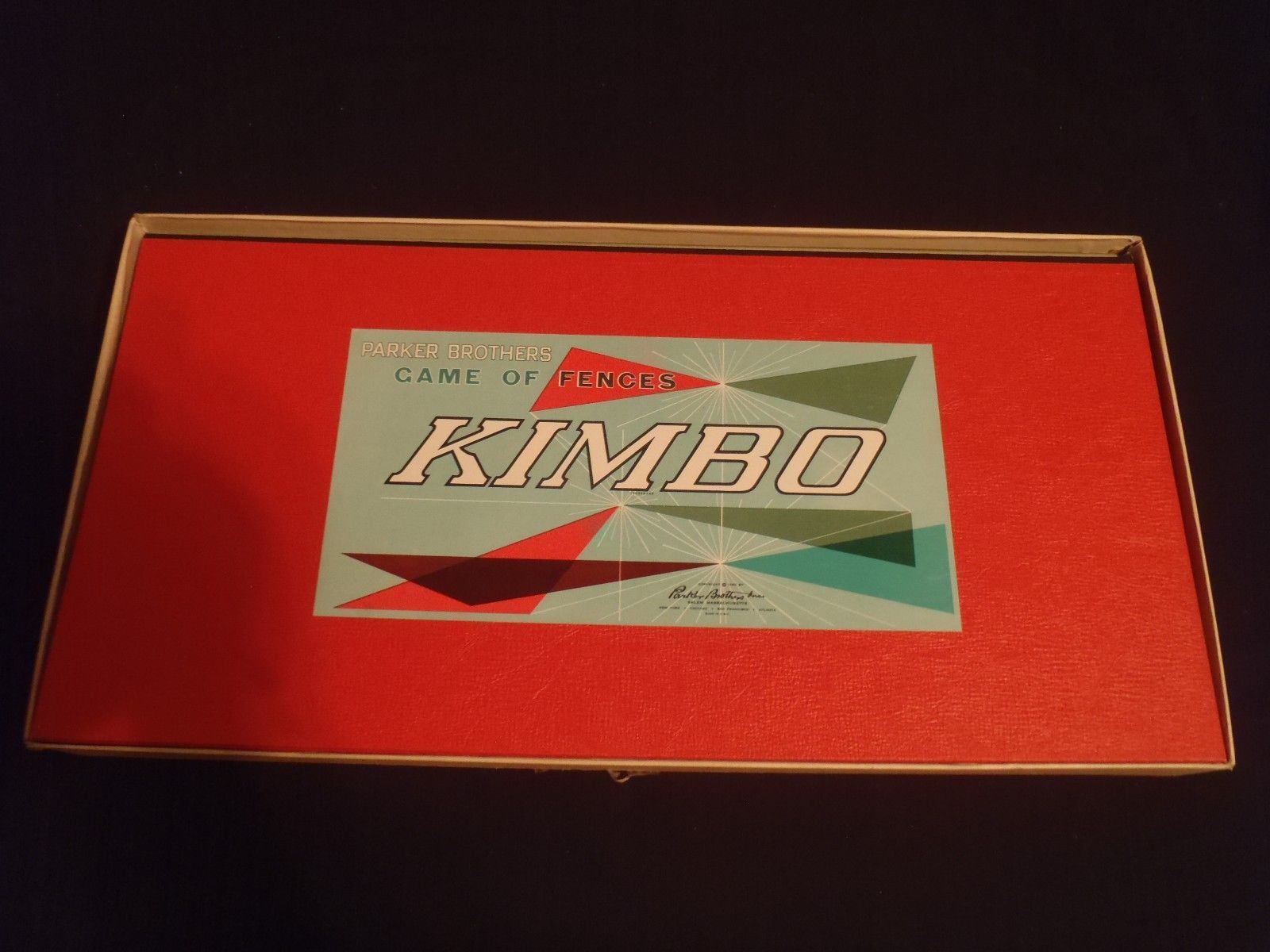 Vintage 1960 KIMBO Parker Brothers Game of Fences Board Game Complete