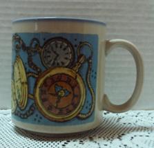 Vintage Stanley Papel Pocket Watch Otagiri Japan Stoneware Coffee Mug Cup - $9.00