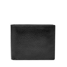 Neu Nwt Portemonnaie Fossil Richard Rfid Flip Id Geldbörse Schwarz - $26.77