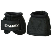 Weaver Horse Bell Boots Synergy Extended Life Black U-6-00 - $27.85