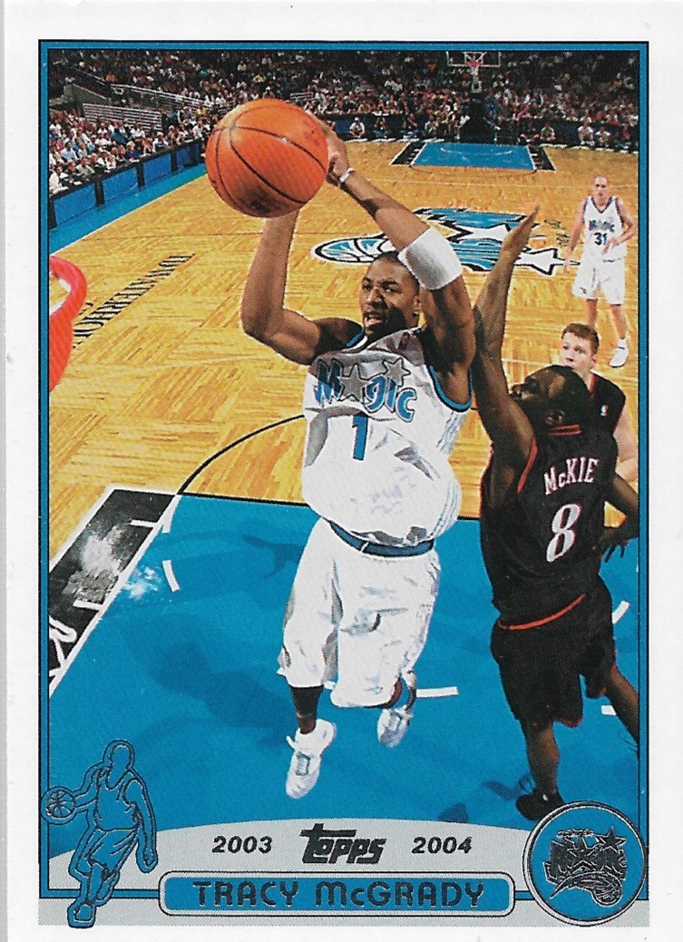 Tracy McGrady Topps 03-04 #1 Orlando Magic Houston Rockets Toronto Raptors