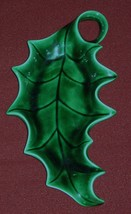 Vintage Holland Mold Ceramic Glazed Christmas Holly Leaf Candy Dish Hand... - $9.49