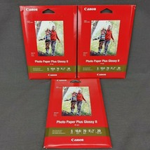 Canon Photo Paper Plus Glossy II 5x7 PP-301 20 Sheets per Box NEW Lot of 3 - $16.35