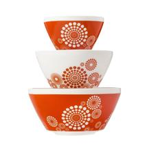 Pyrex 3pc Bowl Set Tickled Pink - $55.00
