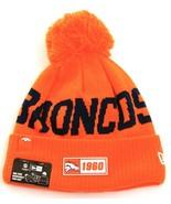 New Era Orange NFL Denver Broncos Knit Cuff Pom Beanie Men's One Size NWT - $39.59