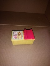 Vintage 1972 FISHER PRICE Little People #761 NURSERY Changing Table Yellow - $7.50