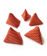 """5 Stones"" Bean Bag Game for Kids - Retro Orange - $7.00"