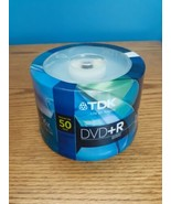 TDK DVD+R 50 Pack Blank Sealed New 16x Speed 4.7 GB Size Discs - $15.74