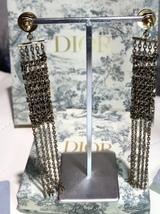 NEW AUTH Christian Dior 2019 J'ADIOR EARRINGS GOLD CRYSTAL DANGLE MULTI STRAND image 5