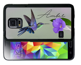 PERSONALIZED RUBBER CASE FOR SAMSUNG S8 S7 S6 EDGE PLUS HUMMING BIRD - $12.98
