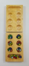 Mancala Folding Wooden Game 43 pieces EUC - $14.01