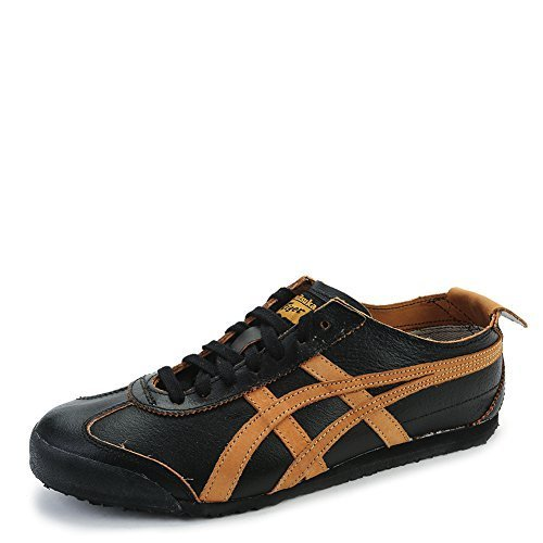 Asics Onitsuka Tiger Men's Mexico 66 Sneakers D5M0L.9071 Black/Tan SZ 7 M (US)