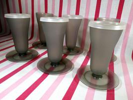 FUN Vintage Tupperware Smokey Grey 6pc Sundae Dessert Parfait 10oz Cups ... - $12.00
