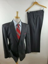 Todays Man Amherst and Brock Mens Gray Plaid 2 Piece Suit Jacket 42R Pan... - $32.01
