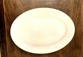 White Ceramic Serving Platter Dish  11 inches by 8 inches  CIRCA 1975 - $28.59
