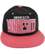 Minnesota Men's Snapback Baseball Cap (Black/Pink) - $11.95