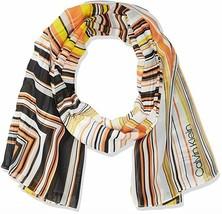 Calvin Klein Geo Stripe Poly Chiffon Yellow Haze Scarf - $40 - NWT - $10.60