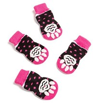 Pet Heroic Anti-Slip Knit Dog Socks&Cat Socks with Rubber Reinforcement, Anti-Sl