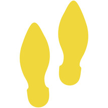 LiteMark Yellow Removable Elf Footprint Decal Stickers - Pack of 12 - $19.95