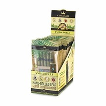 King Palm Hand Rolled Leaf Wrap Rolls - 5 Rolls/Pouch - 15 Pouch Display Box - S