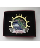 Alaskan Inside Passage 2D Brass Ornament Souvenir Eagle Ship Wheel Cruis... - $18.95