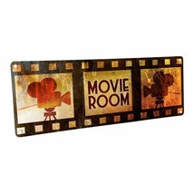 Movie Room Metal Sign; Wall Decor for Home Theater or Family Room - $24.74+