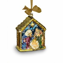 Jay Strongwater  Holy Family Glass Ornament Swarovski  SDH2107-250 NEW - $168.30