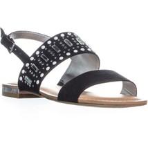 Carlos By Carlos Santana Verity Flat Sandals, Black - £21.65 GBP