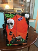 Lemax Spooky Town Halloween Lighted REAPER'S LANDING w/ Animated Skull B... - $39.99