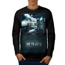 Party Life Tee Up All Night Men Long Sleeve T-shirt - $14.99