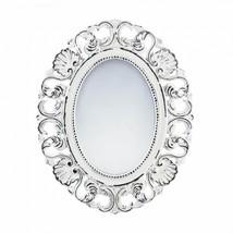 Off-white Distressed Scallop Wall Mirror - $40.99