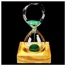 Flowering Magnetic Hourglass Minute Sand Timer Teeth Brushing Wooden Sea... - $9.00+