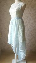 LIGHT BLUE High Low Lace Dress Sleeveless SomethingBlue Wedding Bridesmaid Dress image 6