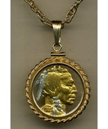 J&J Jewelry Detailed Gold&SilverCut-Out U.S.Copper Nickel Gold Filled Ro... - $98.95
