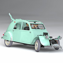 The Smashed-up 2 CV 1/24 Voiture Tintin Cars New 2019 The Castafiore Emerald