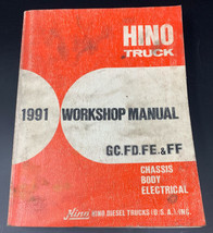 Hino Truck 1991 GC/FD/FE/FF Chassis Body Electrical Service Workshop Man... - $28.45
