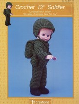 "Soldier 13"" Doll Outfit Td Crochet PATTERN/INSTRUCTIONS Leaflet Htf - $4.47"