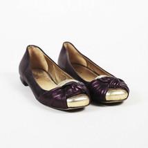 Prada Purple Leather Knotted Flats SZ 37 - $75.00