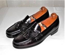 Bostonian Burgundy Leather Tassel Loafer Slip On Shoe Made in USA Men's 11.5 M - $49.00