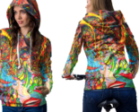 Psychedelic face sexy trippy tongue dmt hoodie women thumb155 crop