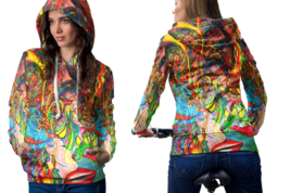 Psychedelic Face Sexy Trippy Tongue DMT Hoodie Women - $44.99