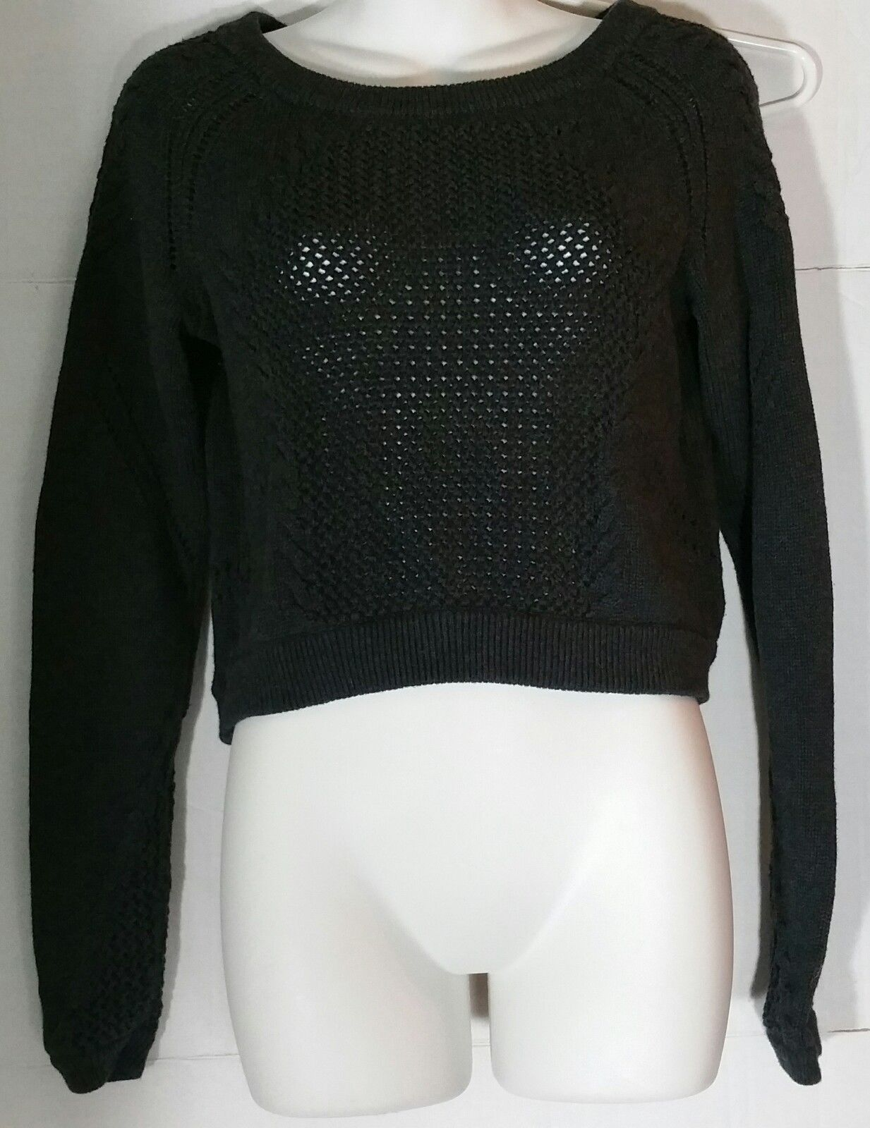 Primary image for Lululemon Be Present Sweater Top 6 8 Pullover Dark Gray Cropped Crop
