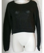 Lululemon Be Present Sweater Top 6 8 Pullover Dark Gray Cropped Crop - $42.56