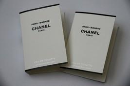 Lot of 2 Chanel Les Eaux Paris - Biarritz Eau de Toilette Samples Spray EDT - $9.85
